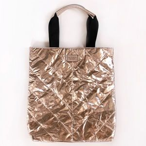Victoria's Secret Metalic Rose Gold Tote Bag